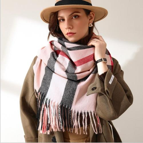 High Quality 2021 New Brand Small Fresh Plaid Scarf Female Autumn And Winter Tassel Warm Shawl Hundred Scarf