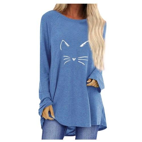 2021 Autumn T-Shirt Women T-Shirt Oversized Casual Loose Long Sleeve Tops female Jumper Pullover Plus Size Irregular Hem t-shirt