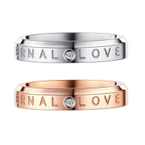 Wholesale Stainless Steel Eternal Love Symbol Ring