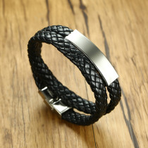 Wholesale Double Strand Leather Bracelet