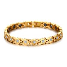 Wholesale Stainless Steel CZ Womens Magnetic Bracelet
