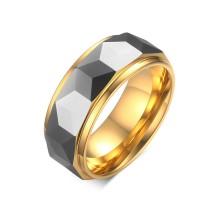 Wholesale Tungsten Carbide Gold Edge Ring