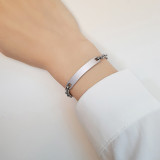 Wholesale Stainless Steel Custom ID Bar Multiple Colour Bracelet