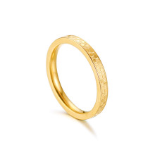 Wholesale Stainless Steel Women Gold Checkerboard Ring
