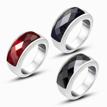 Wholesale Stainless Steel Ring with Stone Designs for Man
