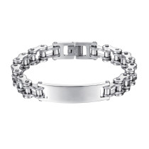 Wholesale Stainless Steel Motorcycle Bike Chain Link ID Bracelet