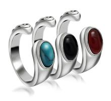 Wholesale Men's Nepal Gem Stone Open-End Stainless Steel Ring