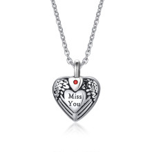 """Wholesale Stainless Steel """"Miss You"""" Cremation Memorial Pendant Necklace"""