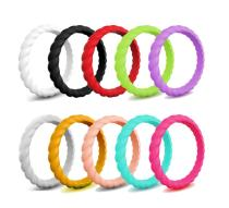 Wholesale Womens Braided Silicone Ring
