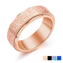 Wholesale Stainless Steel Sandblast Spinner Ring