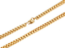 Cheap Online Stainless Steel Gold IP Necklaces Wholesale