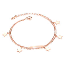 Wholesale Stainless Steel Women Star Multilayer Foot Ornaments Anklets