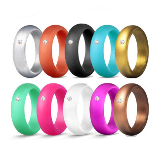 Wholesale Silicone Ring Looks Like Metal