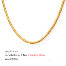 Wholesale Stainless Steel Round Snake Chain Necklace