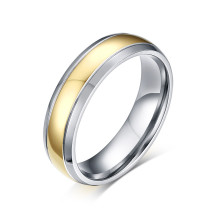 Titanium Gold IP Dome Band Ring Wholesale Supplier