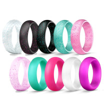 Wholesale Glitter Silicone Wedding Ring