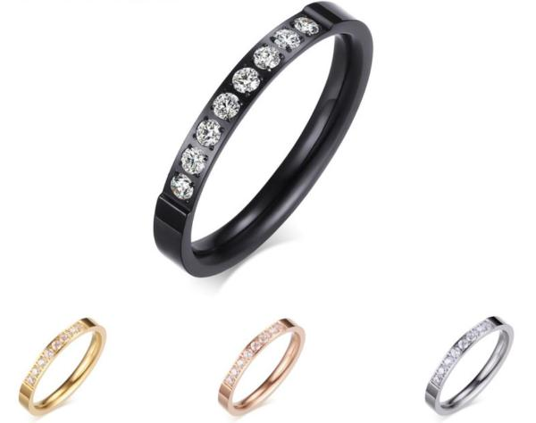 Stainless Steel Rings for Women with Stones