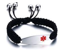 Wholesale Stainless Steel Medical Woven Bracelet