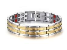 Wholesale Titanium Double Line Magnetic Bracelet