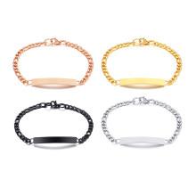 Wholesale Personalized Stainless Steel Charm Women ID Bracelet