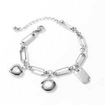 Wholesale Stainless Steel Women Paperclip Chain Bracelet