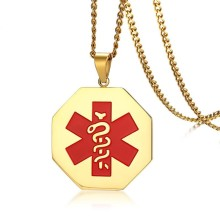 Wholesale Stainless Steel Gold IP Medical Tags