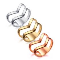Wholesale Stainless Steel Womens Wishbone Charm Ring