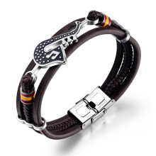 Wholesale Steel Braided Bracelets Leather