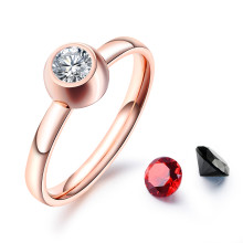 Wholesale Stainless Steel Womens Ring with Replaceable Stone