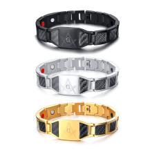 Wholesale Stainless Steel Masonic Magnetic Bracelet