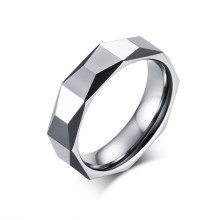 Wholesale Diamond Facet Polished Tungsten Ring