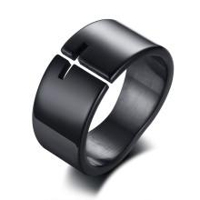 Wholesale Stainless Steel Black New Cross Design Ring