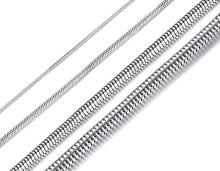 Wholesale Stainless Steel Necklace 1/2/3/4mm Round Snake Chain