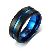 Wholesale Tungsten Carbide Rings Black and Bule