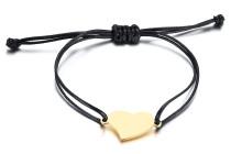 Wholesale Stainless Steel Simple Heart Bracelet Designs for Ladies