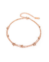 Wholesale Stainless Steel Anklet With Stars