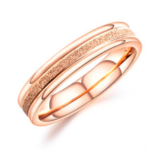 Wholesale Stainless Steel Women's Stacking Ring Rose Gold