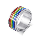 wholesale stainless steel spinner raibow ring
