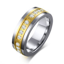 Wholesale Tungsten Wedding Ring with CZs