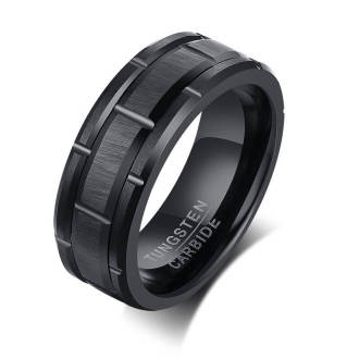 Copy Wholesale Tungsten Wedding Bands - Black and Blue Color