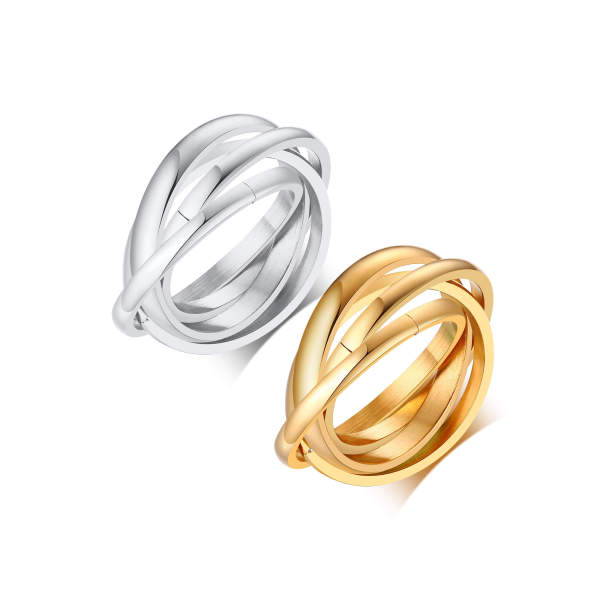 Wholesale Triple Band Wedding Ring Stainless Steel