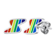 Wholesale Rainbow Lightning Earring Stainless Steel