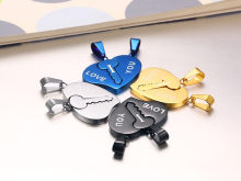 Wholesale Matching Necklaces for Couples Stainless Steel