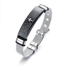 Wholesale English Bible Verse Bracelets Stainless Steel