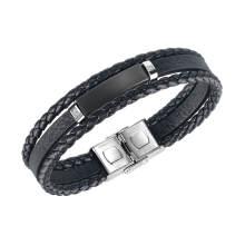 Wholesle Leather Personalised Mens Bracelet