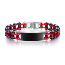 Wholesale Stainless Steel Two Tones Bike Link ID Bracelet