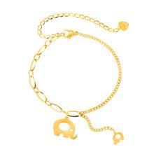 Wholesale Stainless Steel Adjustable Bracelet with Elephant Charm