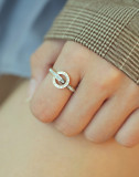 Wholesale Stainless Steel Roman Numeral Zircon Ring