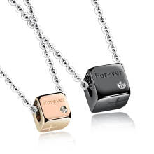 Wholesale Stainless Steel Forever Couple Pendant