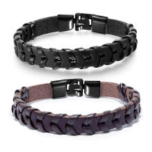Wholesale Mens Leather Wrap Bracelet
